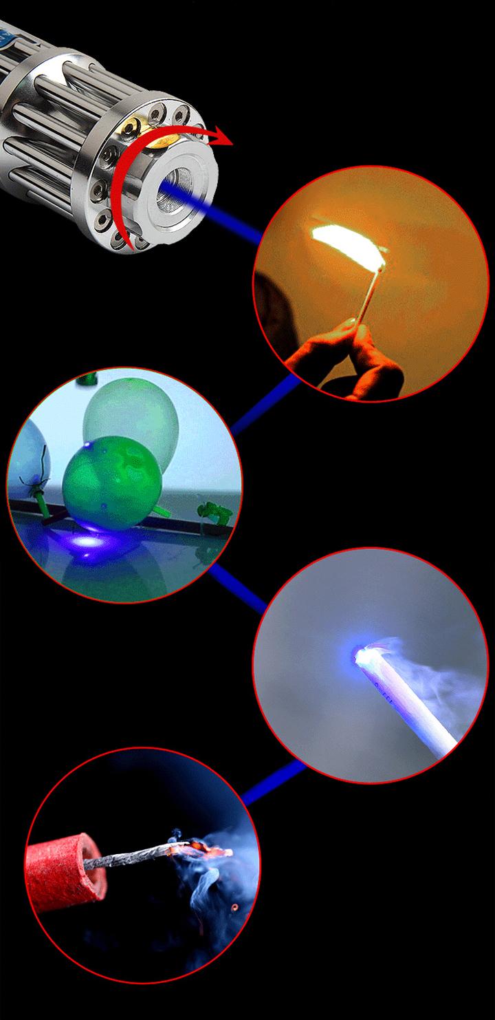 Goedkope En Oplaadbare Usb Laser Pointer Blauw Sterk