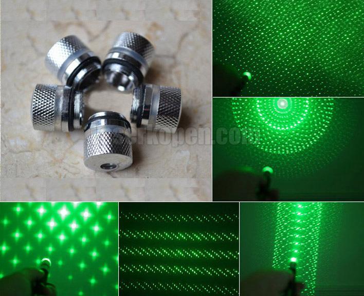 laser met opzetstukken